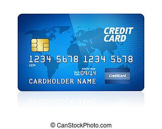 crédito, isolado, cartão