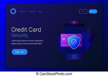 crédito, proteção, financeiro, card.