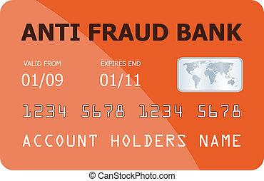 crédito, vetorial, cartão