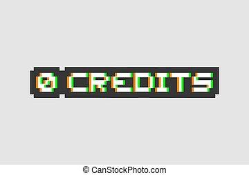 crédits, 0, art, symbole visuel
