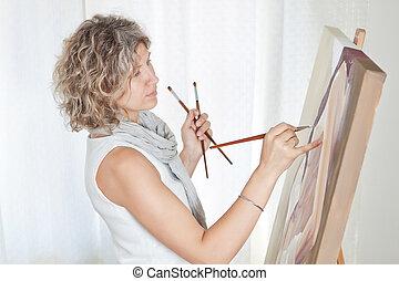 crée, artiste, peintre, pictorial, art.