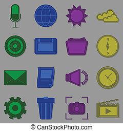 créer, fonction, icônes, pour, internet
