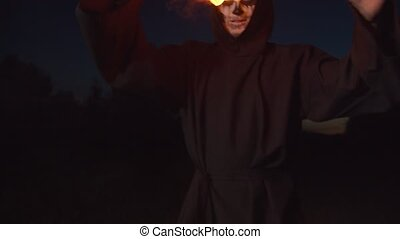 crépuscule, jonglerie, mort, reaper, terrifiant, fireball