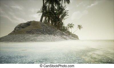 crépuscule, marin, surprenant, plage, doux, exotique