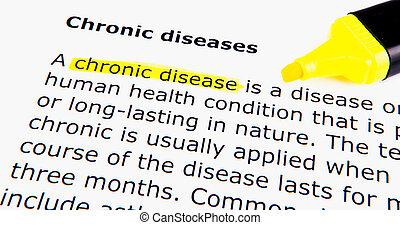 crônico, doenças