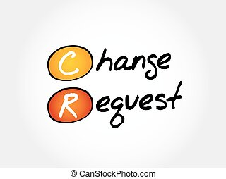 cr, -, prośba, zmiana