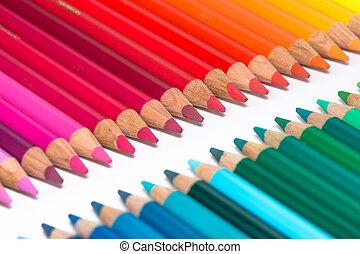 cra, file, due, colorito, opposto