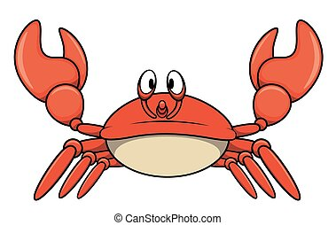 Crab cartoon illustration