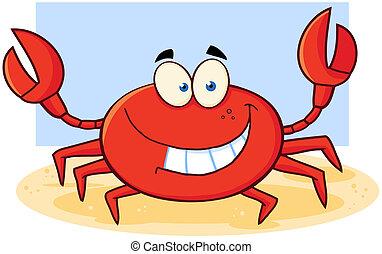 Crab Cartoon Mascot Character
