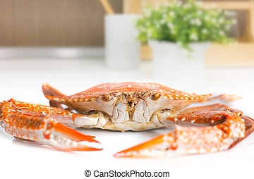 Crab cook for food in the Kitchen