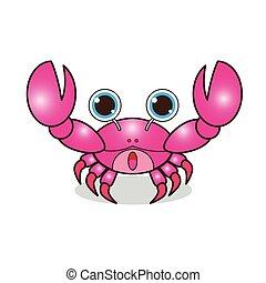 Crab cute cartoon