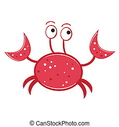 Crab - Red crab lobster ocean sea fish