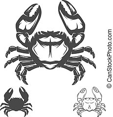Crab icon isolated on white background.