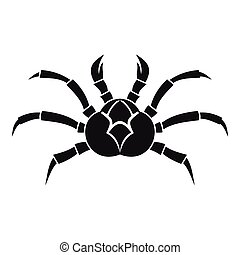 Crab icon, simple style