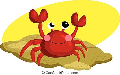 Crab in the Sand
