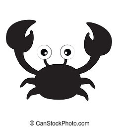 crab silhouette on white background