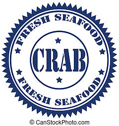 Crab-stamp - Rubber stamp with text Crab-Fresh...