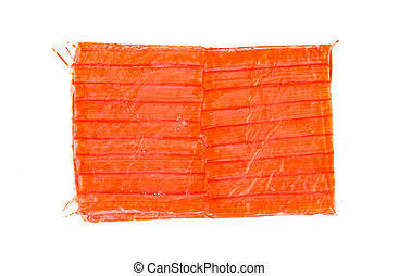 Crab stick isolated on white background