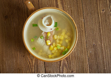 Crab  sweetcorn chowder, sweetcorn soup recipe is flavoured ...