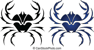 Crab tattoo design