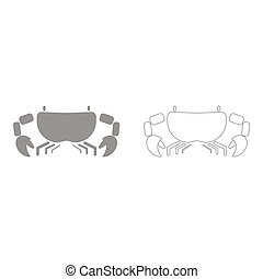 Crab the grey set icon .