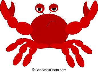 Crab vector color illustration.