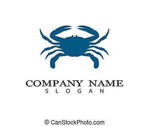 Crab vector icon