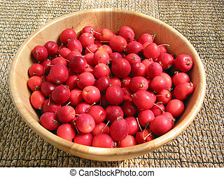 Crabapples in a bowl