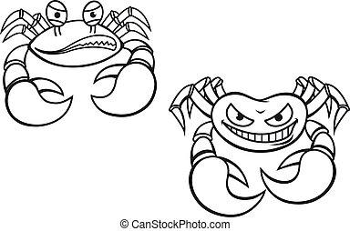 crabes, dessin animé