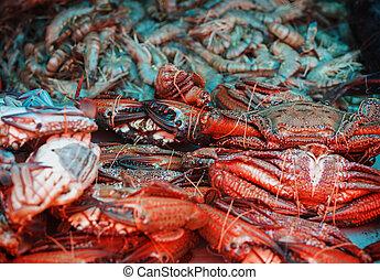 crabs, восточный базар, креветка