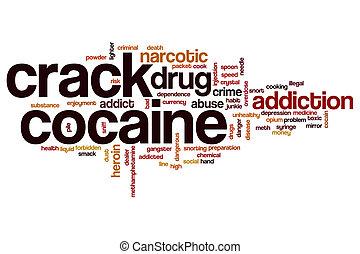 Crack cocaine word cloud concept
