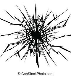 crack - Cracks in the  glass.