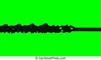 crack effect on green screen