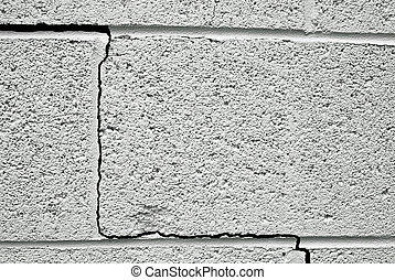 crack in a concrete building foundation