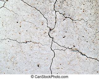 Crack in concrete2 - cracks in concrete slab for the...