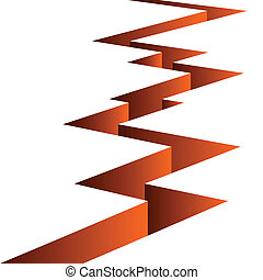 Orange fissure separates the white background.
