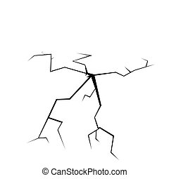 crack on white illustration art vector symbol