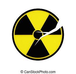 crack radioactivity sing isolated on a white background