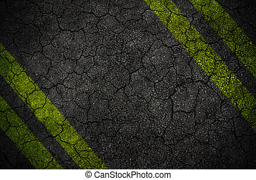 Crack Road texture with four yellow