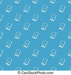 Crack screen smartphone pattern vector seamless blue