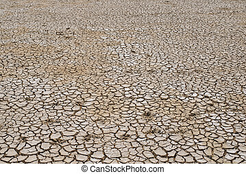 Crack soil on dry season, Global warming / cracked dried mud / Dry cracked earth background / The cracked ground, Ground in drought, Soil texture and dry mud, Dry land.