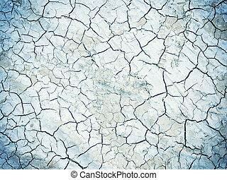 Crack soil on dry season, Global worming effect.