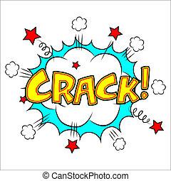 Crack sound effect illustration