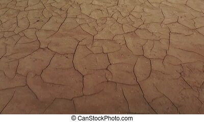 Cracked and dried ground - Empty dry lake in summer