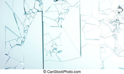 Cracked and Shattered glass slowmo
