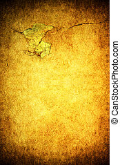 Cracked background - A cracked light yellow grunge concrete...