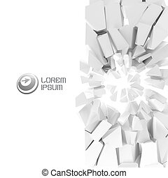 Cracked background. Vector illustration. - Cracked...