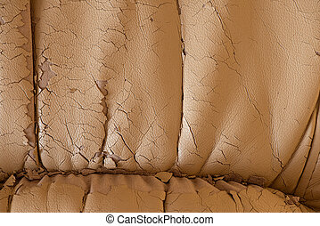 Cracked beige leather texture