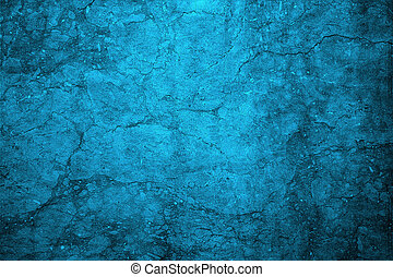 Cracked blue wall