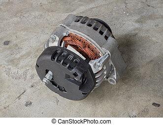 Cracked car alternator